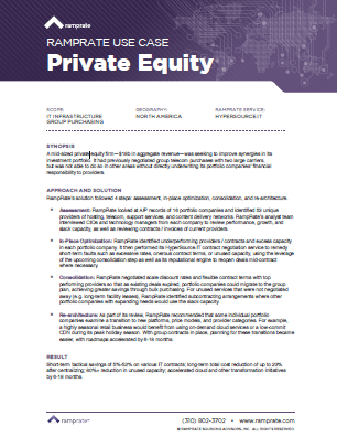 RampRate Use Case – Private Equity
