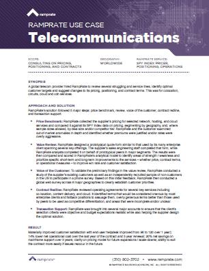 RampRate Use Case – Telecommunications