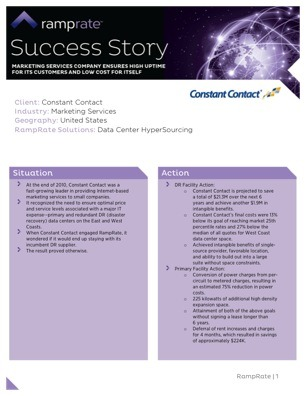 Constant Contact Success Story